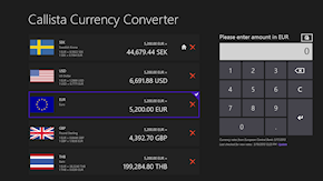 Currency Converter in full landscape view.