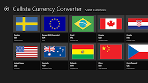 Select currencies to convert to and from.